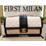 CHANEL Lambskin Two Tone Flap Bag