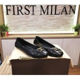 LOUIS VUITTON Noir Oxford Flat Ballerina Shoes (Size:37)