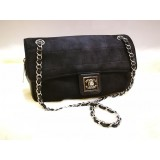 CHANEL Jersey Leather Vintage Shoulder Bag
