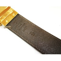 LOUIS VUITTON Damier Ebene Reversible Belt (Size:90/36)