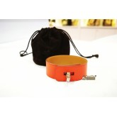HERMES Swift Leather Bracelet With Turn Lock (Size:S)