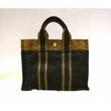 HERMES Canvas Tote Bag Sac Fourre Tout PM