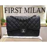CHANEL Jumbo Flap In Caviar Leather SHW