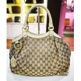 GUCCI Sukey Medium Tote (White)