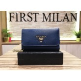 PRADA Saffiano Leather 6 Key Holder