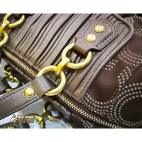 COACH Ashley Gathered Dotted Satchel Handbag