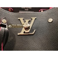 LOUIS VUITTON Soft Calfskin Lockme Bucket Bag