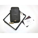 PRADA Black Saffiano I phone2 Sleeve