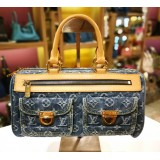 LOUIS VUITTON Monogram Denim Bowling Bag