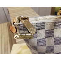 LOUIS VUITTON Damier Azur Saleya Handbag