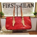 LOUIS VUITTON Monogram Red Vernis Rosewood Bag