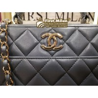 CHANEL Lambskin Trendy CC Bowling Bag
