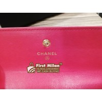 CHANEL Boy Lambskin Flap Long Wallet