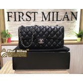 CHANEL Lambskin East West Flap Bag