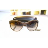 CHANEL Brown Chain Sunglass