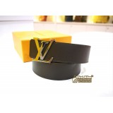 LOUIS VUITTON Reversible Sun Tulle Initial 40mm (Blk & Brw)