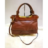 BURBERRY Full Leather Two Way Bag