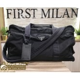 PRADA Duffle Black Nylon Travel Bag