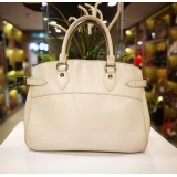 LOUIS VUITTON White Epi Leather Passy PM Bag