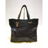 CHANEL Black Biarritz Tote Bag