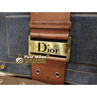 CHRISTIAN DIOR Denim Vintage Sling Bag