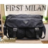 PRADA Nylon Large Messenger Bag