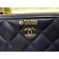 CHANEL Lambskin O Case Large Clutch