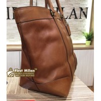 COACH Bleecker Legacy Brown Leather Tote Bag
