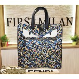FENDI Bugs Camouflage Pattern Monster Tote Bag