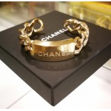 CHANEL Silver Hardware Bangle