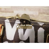 LOUIS VUITTON Monogram Graffiti Keepall 50