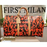 LOUIS VUITTON Monogram Orange Graffiti Keepall 50