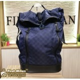 LOUIS VUITTON Damier Blue Nylon LV Cup Backpack