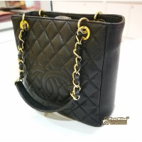 CHANEL Petite Shopping Tote With GHW