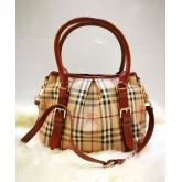 BURBERRY Haymarket Check Tote Bag (Brw)