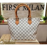 LOUIS VUITTON Damier Azur Canvas Saleya Handbag