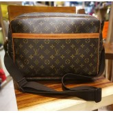 LOUIS VUITTON Monogram Reporter GM Messenger Bag