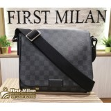 LOUIS VUITTON Damier Graphite District Messenger Bag PM