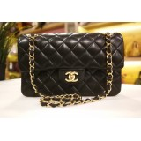 CHANEL Lambskin Small Classic Double Flap GHW