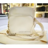 LOUIS VUITTON Ltd Edition Cuir Bequia White Trotter MM