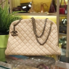 CHANEL Mademoiselle Quilted Lambskin Tote