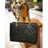 CHANEL Caviar Grand Shopping Tote Bag GHW