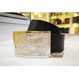 LOUIS VUITTON Black Leather Travelling Requisites Belt (Size:90/36)