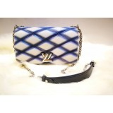LOUIS VUITTON Logo Plate GO-14 PM Chain Shoulder Bag