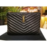 YSL Monogram Matelasse Chevron Pouch (Without Strap)