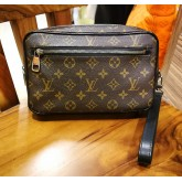 LOUIS VUITTON Monogram Macassar  Canvas Kasai Clutch
