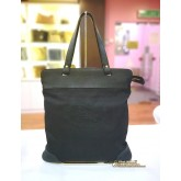 BURBERRY Black Stowell Roll Up Tote