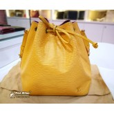 LOUIS VUITTON Epi Petit Noe In Tassil Yellow