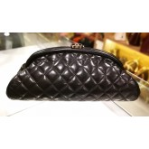 CHANEL Lambskin Clutch Timeless Frame