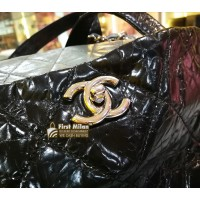 CHANEL Portobello Tote Quilted Glazed Calfskin